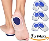 Armstrong Amerika Heel Pain Inserts Silicone Gel Insole Pads Heel Cups Protectors for Plantar Fasciitis Sore Feet Bruised Heel Foot Pain Bone Spurs Treatment & Relief Gels (Large)