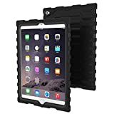 Apple iPad Air 2 Black Shock Drop Hard Candy Cases Silicone Rugged Shock Absorbing Protective Dual Layer Cover Case