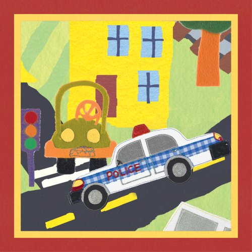"""Art 4 Kids """"Rescue Police Car"""" Mounted Art Print, 12""""X12"""" front-852465"""