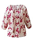 Ladies 'JULIPA' Stone Floral Print Gypsy Blouse - Uk Size 12 - 25