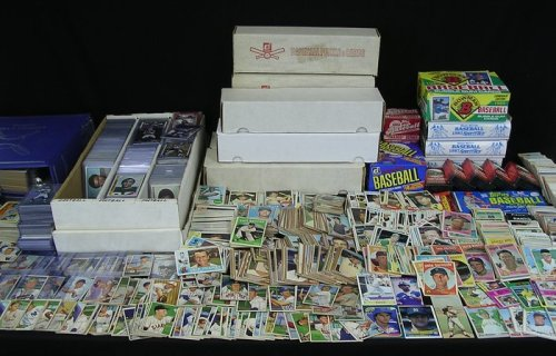 NFL Football Card Collector Box With Over 500 Cards AMAZONCOM