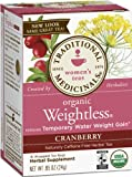 Traditional Medicinals Organic Weightless, Cranberry, 16-Count Boxes (Pack of 6)