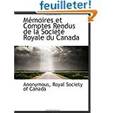 Mémoires et Comptes Rendus de la Société Royale du Canada