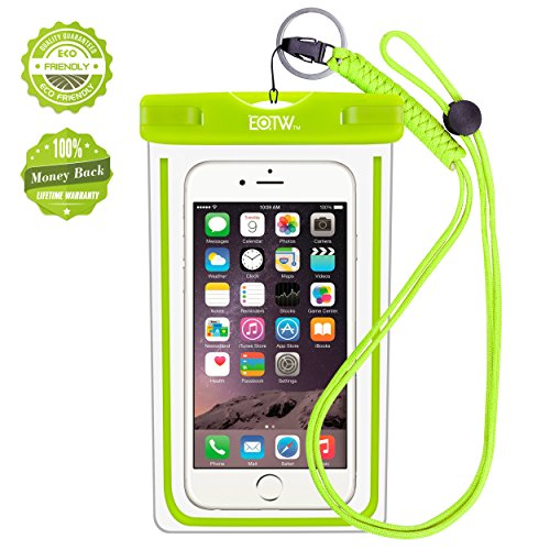 iPhone6/Samsung 防水ケース EOTW® 防水携帯ケース 救助用ネックストラップ付属 IPX8 グリーン