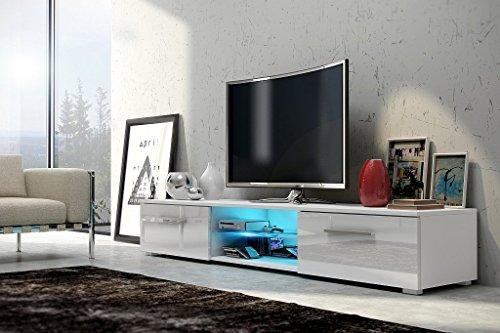 TV-Schrank-Nessy-wei-matt-glnzend-weie