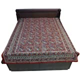 """60X90"""" Bagru Print Block Print Double Bed Spread- Double Bed Cover- Double Bed Sheet - Online Shopping For Home... - B00G8V8RH8"""
