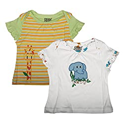 Mee Mee Baby Girls' Blouse (GKHJF17TOP_AOP_WHITE-9-12 MNTHS)