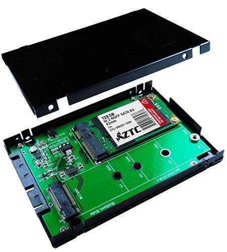 ZTC 2-in-1 Sky 2,5 pollici custodia m. 2 (NGFF) o mSATA SSD SATA III scheda adattatore. Multi formato Fit modello ZTC-IT005