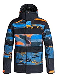 Quiksilver Mens QuiksilverTM Fiction - Snowboard Jacket - Men - L - Orange Shocking Orange L