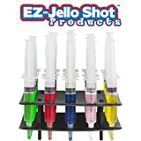 25 Pack EZ-Inject Jello Shot Syringes Combo Kit (Includes Tray/Racking Stand) (Medium 1.5oz)