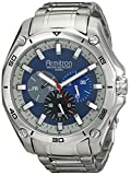 Armitron Mens 20/4941BLSV Stainless Steel Silver-Tone Multi-Function Bracelet Watch