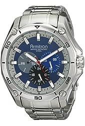 Armitron Men's 20/4941BLSV Stainless Steel Silver-Tone Multi-Function Bracelet Watch