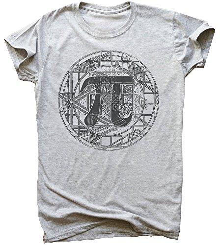 Beautiful Detailed PI Circle Design Men's T-Shirt Medium