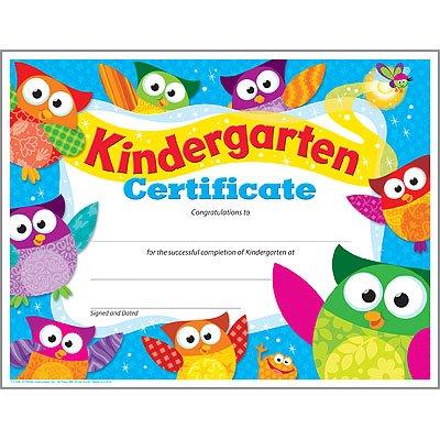 Trend Enterprises Kindergarten Certificate (Owl-Stars!) (T-17009)