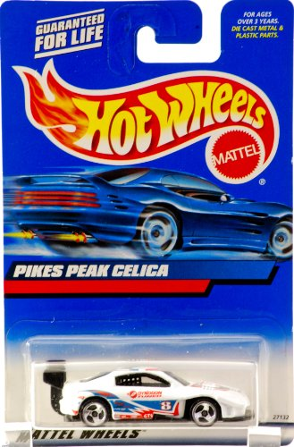 2000 - Mattel - Hot Wheels - Collector #166 - Piks Peak Celica - White - #8 Toyota Red & Blue Racing Graphics - 3 Spoke Wheels - New - Out of Production - Limited Edition - Collectible