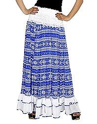 Sringar Women's Skirt (As1030_Bl_Blue_40)
