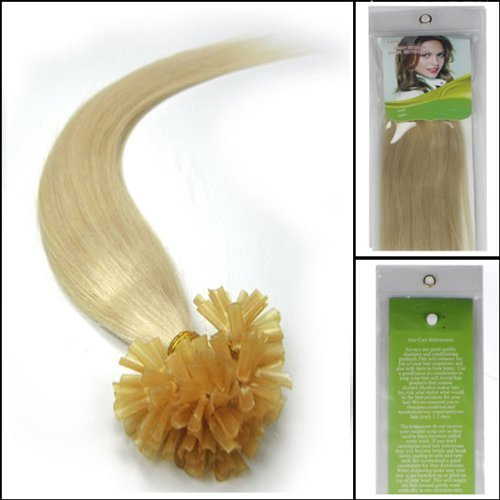 20 100s pre boned kertain tipped straight nail u shape real human hair extensions - Coloration 60