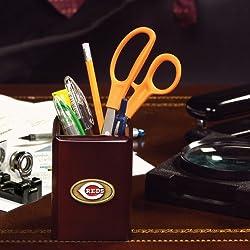 Cincinnati Reds Team Walnut Pencil Holder MLB Baseball Fan Shop Sports Team Merchandise