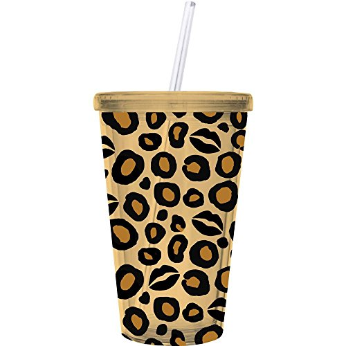 Leopard Print Kiss Insulated Tumbler Cup