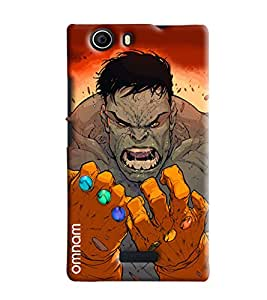 Omnam Hulk Man Annoying Printed Designer Back Cover Case For Micromax Nitro 2 E311