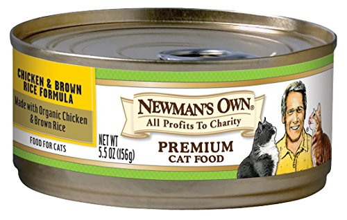 Newman's Own Premium, Chicken and Brown Rice Formula for Cats, 5.5-Ounce Cans (Pack of 24) (Chicken And Corn compare prices)