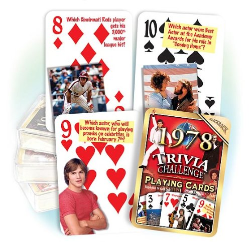 Flickback 1978 Trivia Playing Cards