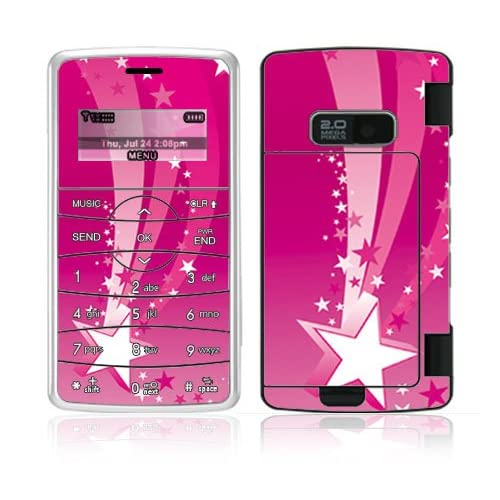 Pink Stars Decorative Skin Cover Decal Sticker for LG enV2 VX9100 Cell Phone