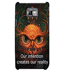 ColourCraft Image with Quote Design Back Case Cover for SAMSUNG GALAXY S2 I9100