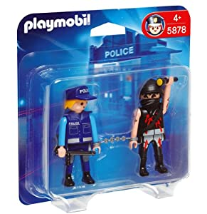 Playmobil - 5878 Duo Pack Policeman with Bandit