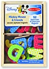 Mickey and Friends Wooden Alphabet Magnets