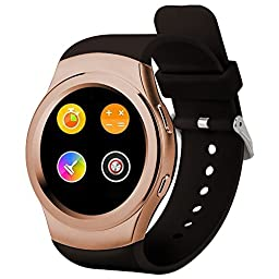 PowerLead Pwah PL-G3 All Round Screen Touch-screen Smart Bluebooth Watches with Heart Rate and Step Down Function