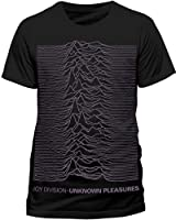 JOY DIVISION Men's Oversized Placement Print Short Sleeve T-Shirt