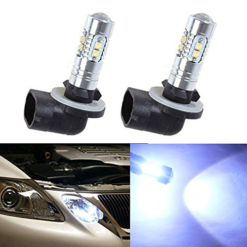XT AUTO 2x 8000K White High Power 2323 SMD 881 886 889 894 LED Fog Driving Light Bulbs 1200LM (881 Fog Light Bulb 8000k compare prices)