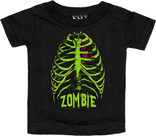 Black Zombie Ribcage Shirt from Sourpuss Clothing