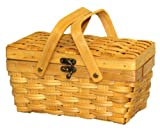 Search : Woodchip Picnic Basket with Folding Handles