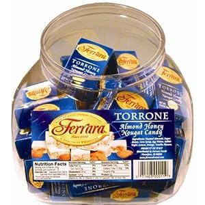 Almond+Torrone Ferrara Torrone, Almond Honey Nougat Candy, Assorted ...