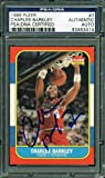 76ERS CHARLES BARKLEY AUTHENTIC SIGNED CARD 1986 FLEER ROOKIE #7 PSA/DNA SLABBED at Amazon.com