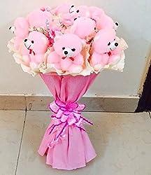 Awwsme Pink Teddy Bear Bouquet