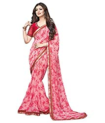 My online Shoppy Georgette Saree (My online Shoppy_37_Pink)