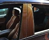 6x Carbon Braun T�rzierleisten Verkleidung B S�ule T�rs�ule passend f�r Ihr Fahrzeug