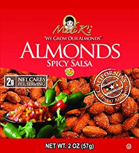 Madi Ks Spicy Salsa Almonds 2-ounce Bags Pack Of 36 by Madi K's