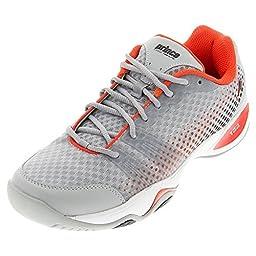 Prince T22 Lite Men\'s Tennis Shoes (Gray/Black/Red) (10.5 D(M) US)
