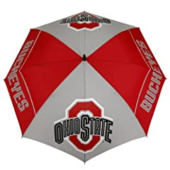 NCAA Ohio State Buckeyes 62-Inch WindSheer Hybrid Umbrella by Team Effort