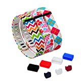 DigiHero 3 pcs Large Size Wristbands Replacement Band With Clasps for Fitbit FLEX Only /No tracker/ Wireless Activity Bracelet Sport Wristband Fitbit Flex Bracelet Replacement Arm Band Armband