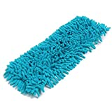 Handy Chenille Microfiber Mop Heads Flat Replacement Dust Floor Home Refill Household Mop Head Clean (Sky Blue)