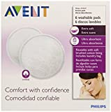 Philips AVENT Washable Nursing Pads, 6-Count