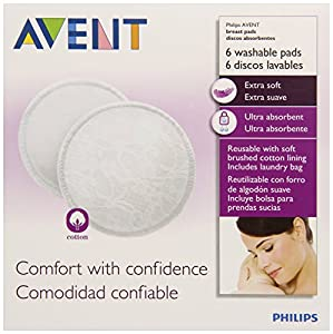 Philips AVENT Washable Nursing Pads, 6-Count