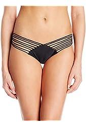 Luli Fama Women's Verano De Rumba Strappy Brazilian Ruched Back Bikini Bottom