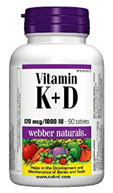 buy Webber Naturals Vitamin K + D, 120 Mcg + 1000 Iu, 90 Tablets