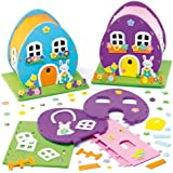 Easter Egg House Craft Kits for Children to Make Decorate and Display (Pack of 2)